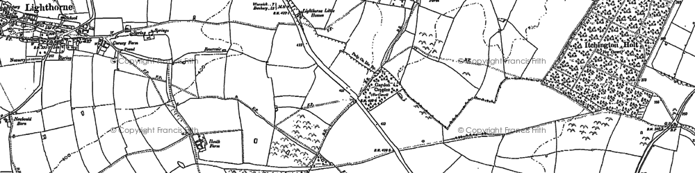 Old map of Lighthorne Heath in 1885