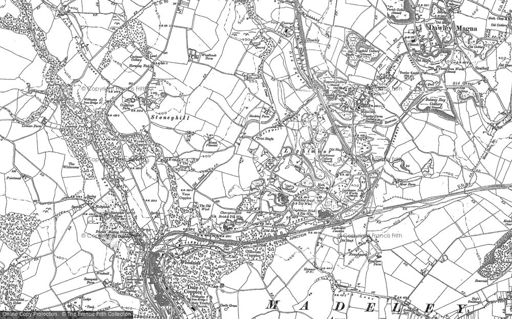 Old Map of Lightmoor, 1882 in 1882