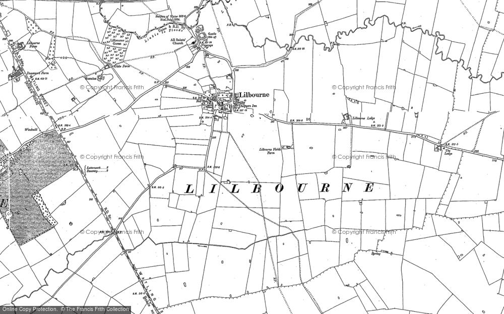 Old Map of Lilbourne, 1884 - 1903 in 1884