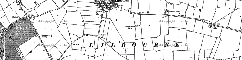Old map of Lilbourne in 1884