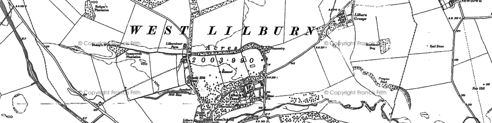 Old map of Lilburn Hill in 1896