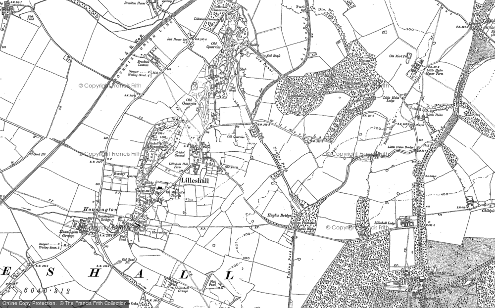 Map of Lilleshall, 1881 - 1901