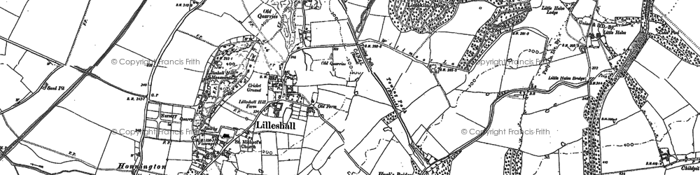 Old map of Lilleshall in 1881