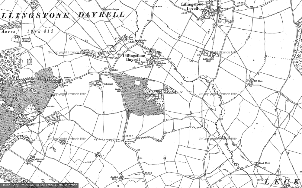 Old Map of Historic Map covering Tilehouse Wood in 1899