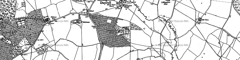 Old map of Lillingstone Dayrell in 1899