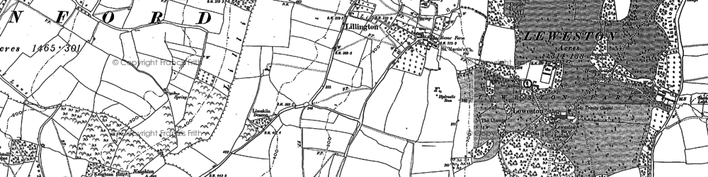 Old map of Lillington in 1886