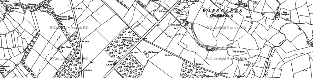 Old map of Lillyhall Industrial Estate in 1923