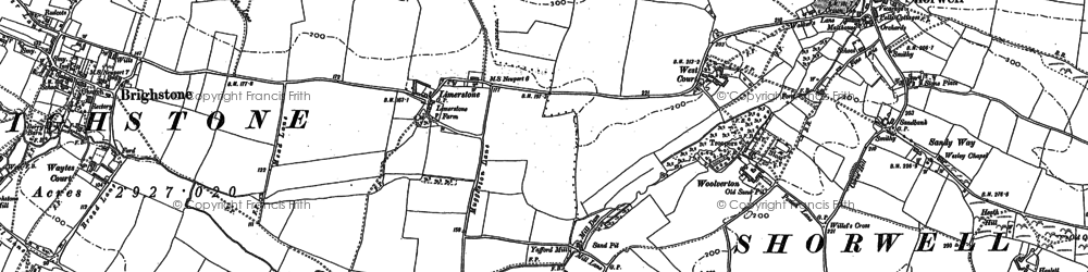 Old map of Yafford in 1907