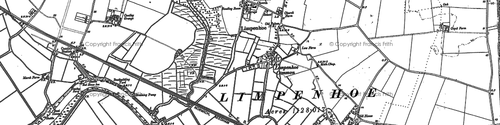 Old map of Limpenhoe Hill in 1884