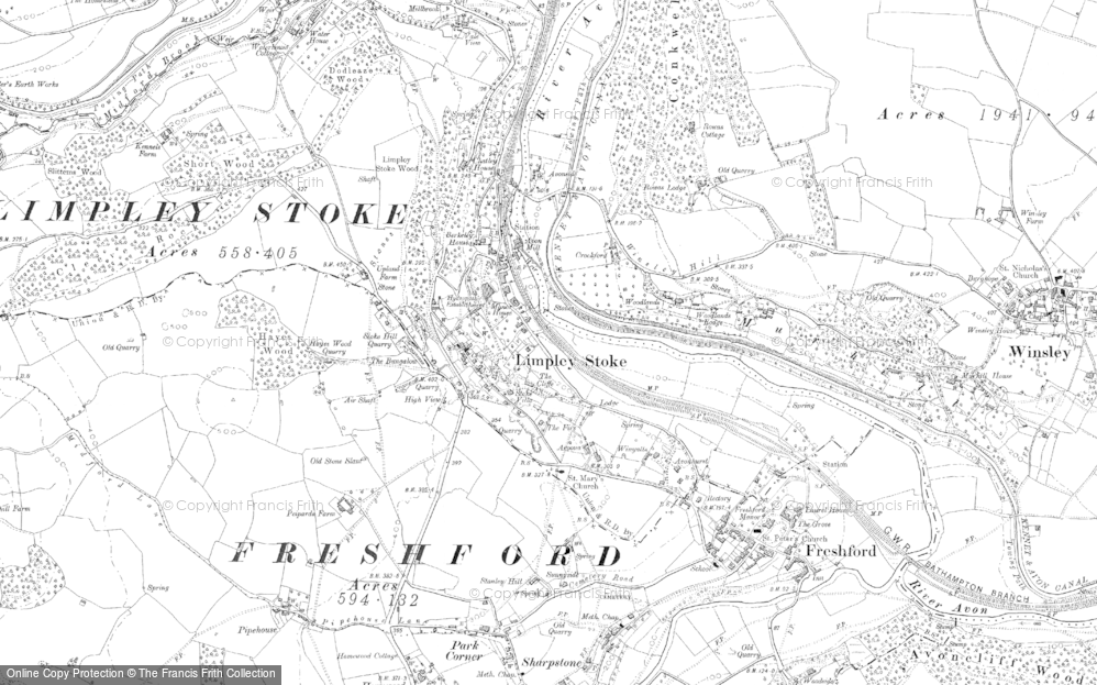Old Map of Limpley Stoke, 1902 in 1902