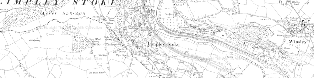 Old map of Limpley Stoke in 1902