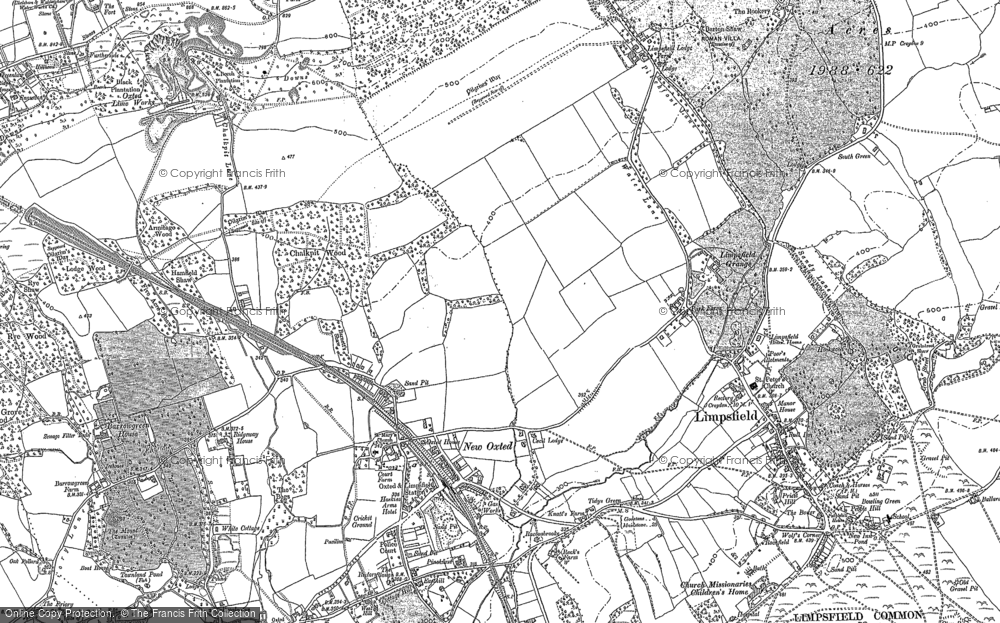 Old Map of Limpsfield, 1895 - 1910 in 1895