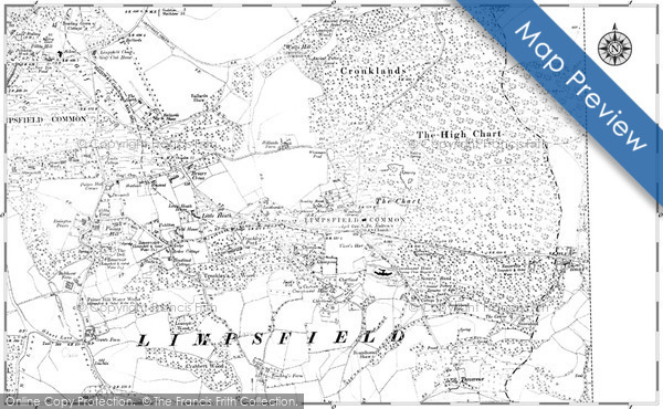 Old Map of Limpsfield Chart, 1910 in 1910