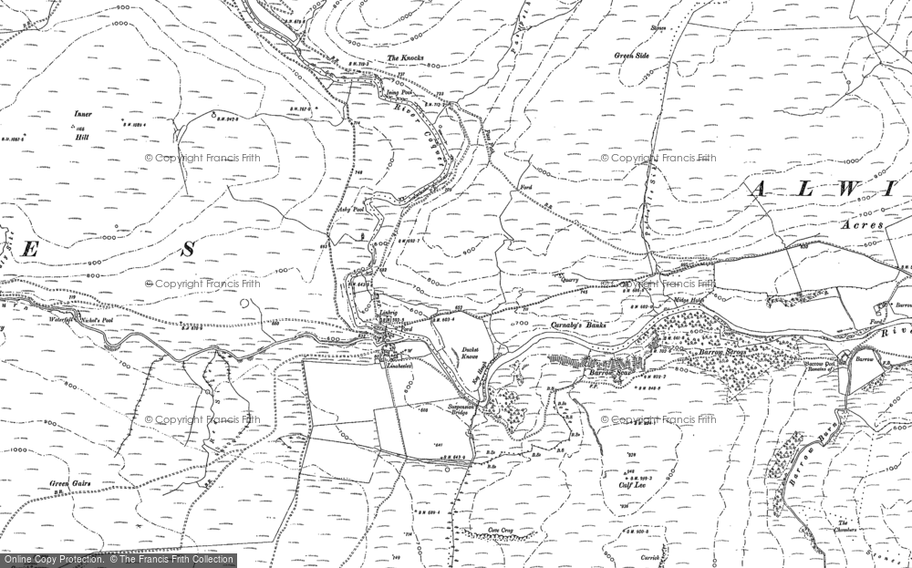 Old Map of Historic Map covering Linshiels in 1863