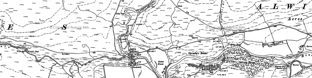 Old map of Wholehope Knowe in 1863