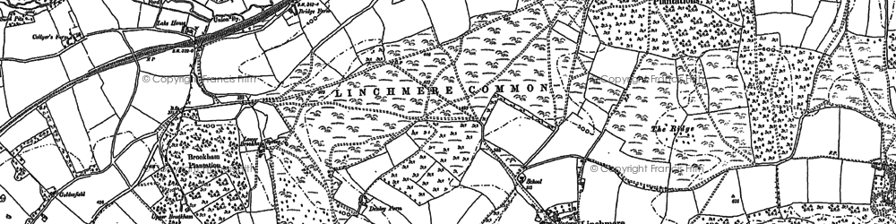 Old map of Linchmere in 1910