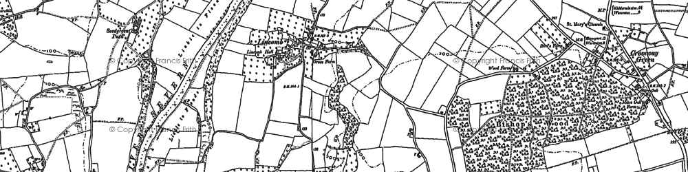 Old map of Lineholt Common in 1883