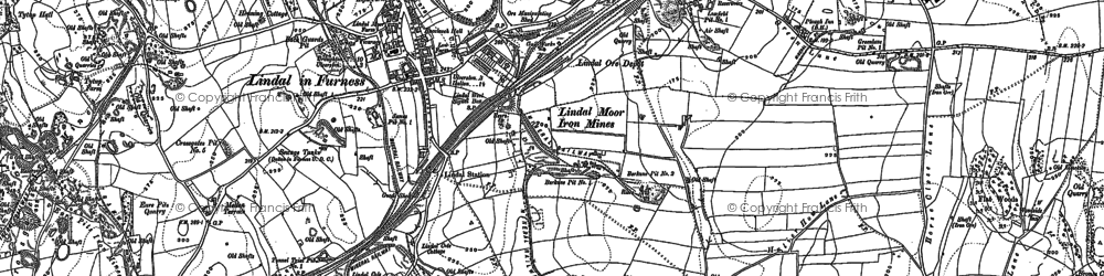 Old map of Lindal in Furness in 1910