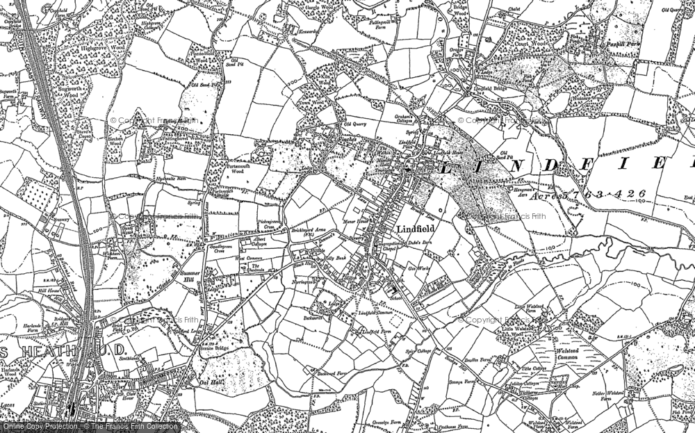 Old Map of Lindfield, 1896 in 1896