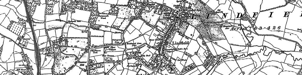 Old map of Lindfield in 1896