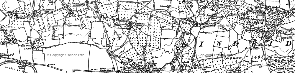 Old map of Lindridge in 1883