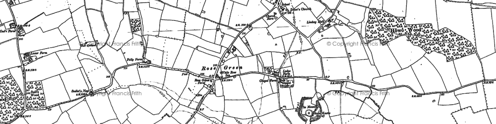 Old map of Lindsey in 1885