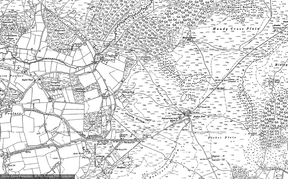 Old Map of Linford, 1895 - 1908 in 1895