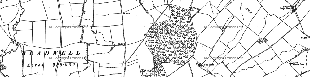 Old map of Linford Wood in 1898