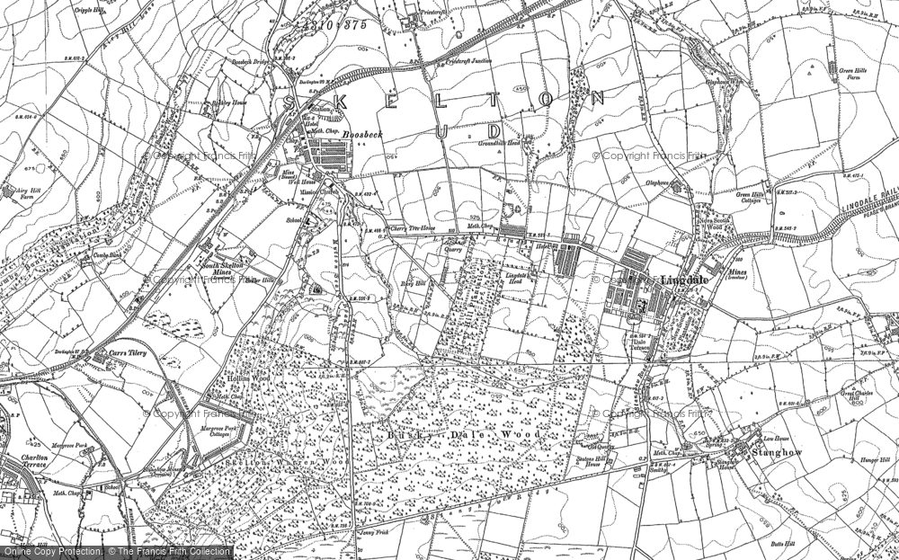 Old Map of Lingdale, 1893 in 1893