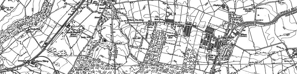 Old map of Lingdale in 1893