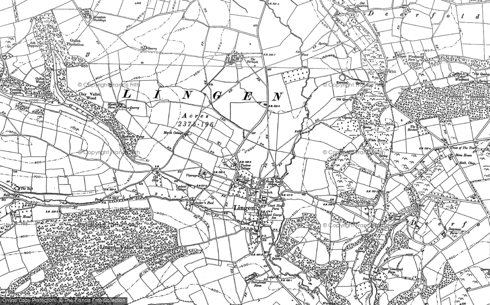 Old Map of Historic Map covering Limebrook in 1902