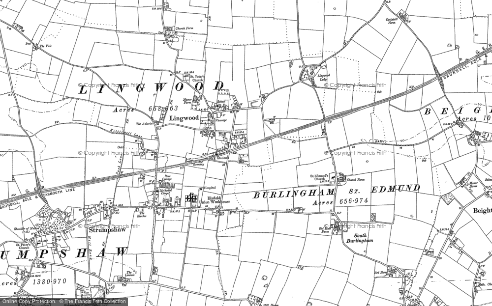 Old Map of Lingwood, 1881 - 1884 in 1881