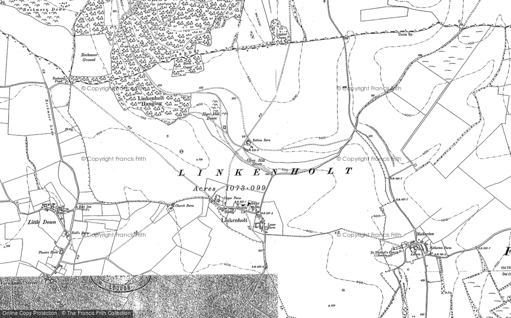 Old Map of Linkenholt, 1909 in 1909