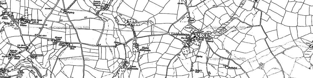 Old map of Linkinhorne in 1882