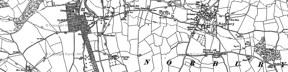 Old map of Linley in 1882