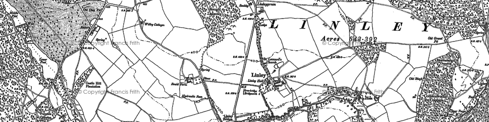 Old map of Linleygreen in 1882