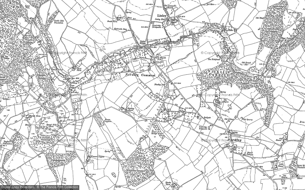 Old Map of Linley Brook, 1882 in 1882