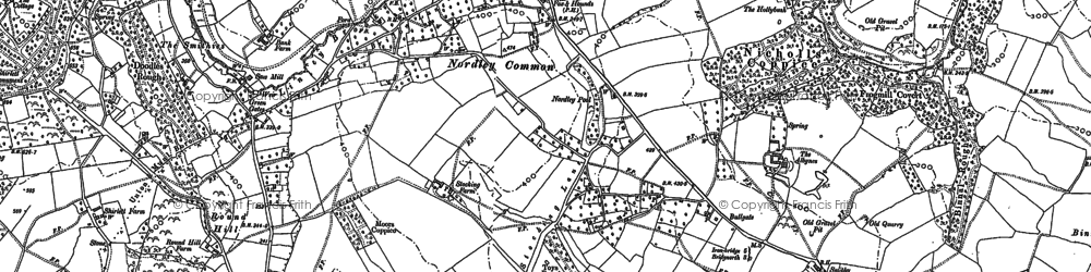 Old map of Linley Brook in 1882