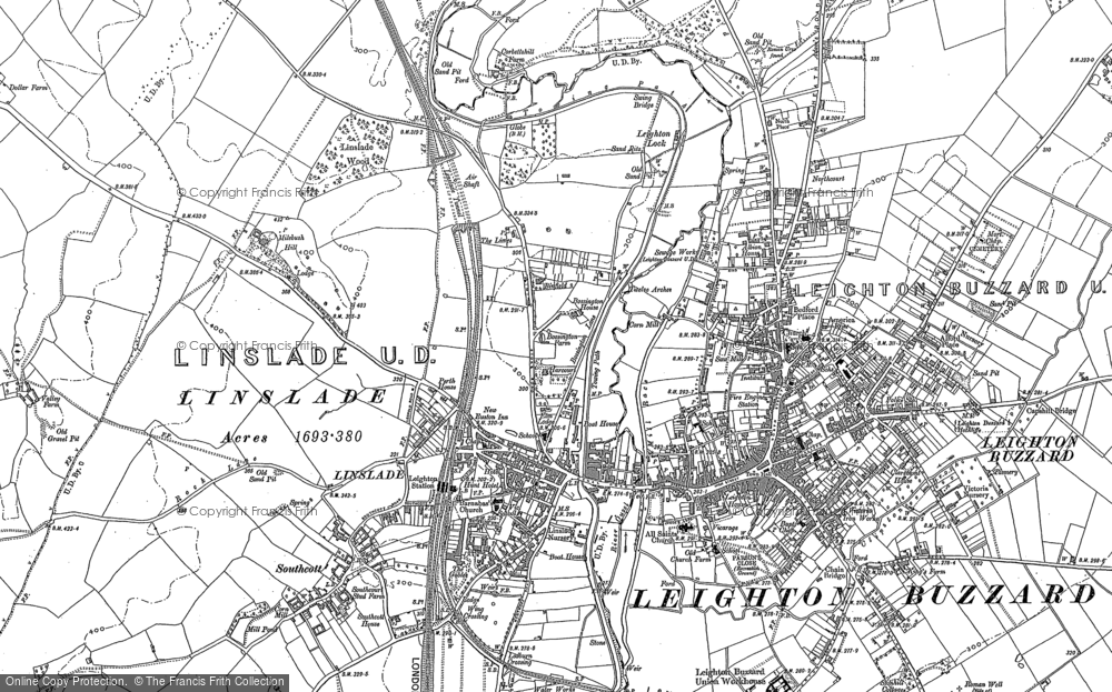 Old Map of Linslade, 1900 in 1900