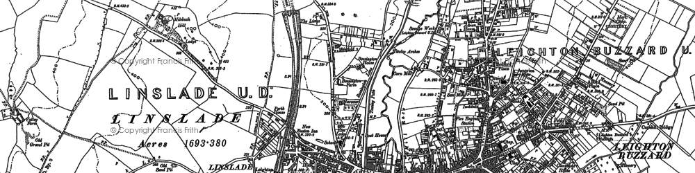 Old map of Linslade in 1900