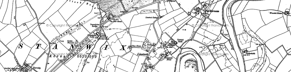 Old map of Linstock in 1888