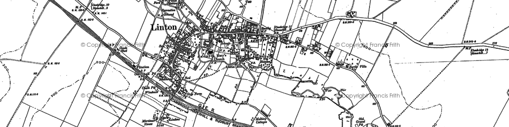 Old map of Linton in 1885
