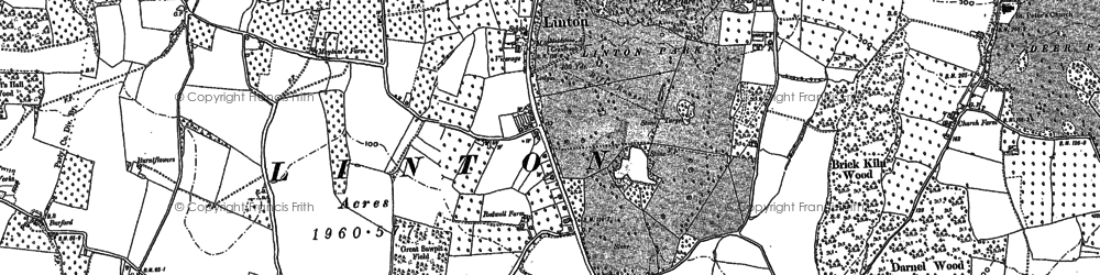 Old map of Linton Park in 1896