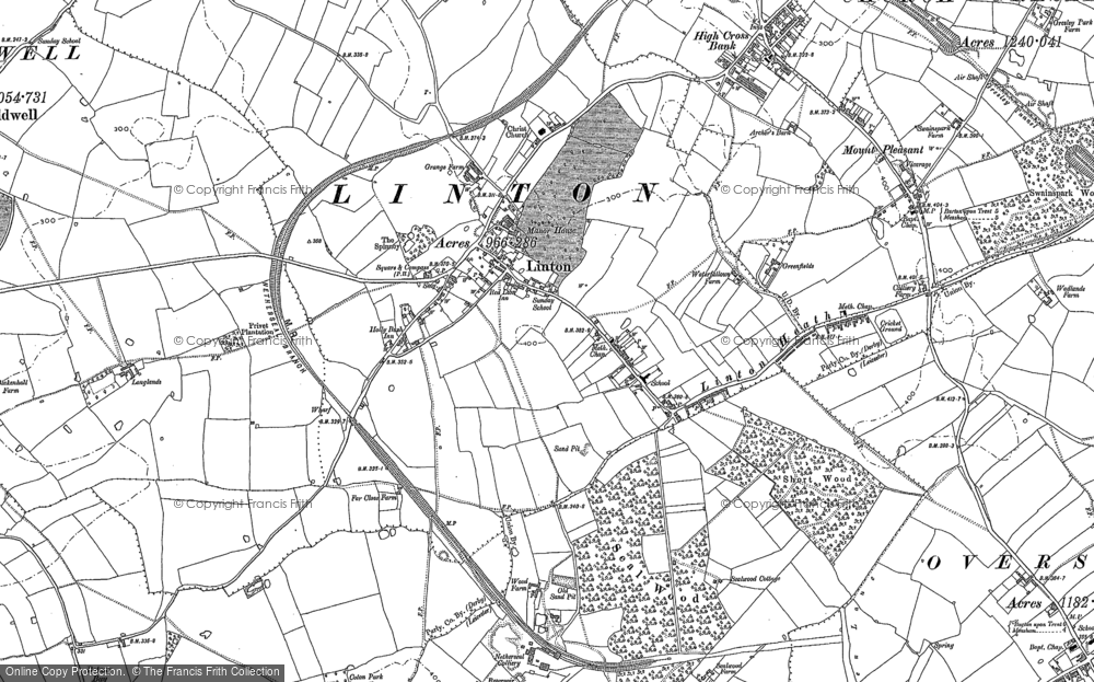 Old Map of Historic Map covering Linton Heath in 1900
