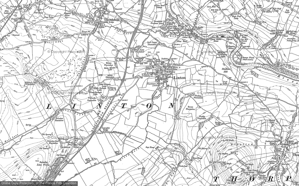 Old Map of Linton, 1907 in 1907
