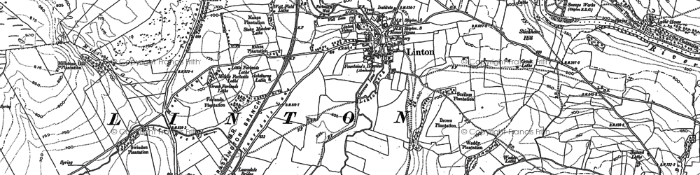 Old map of Linton in 1907