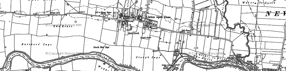 Old map of Aldwark Wood in 1892
