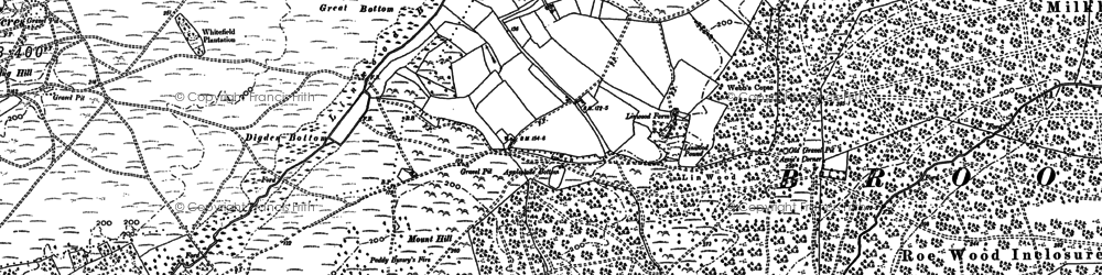 Old map of Whitefield Plantn in 1895