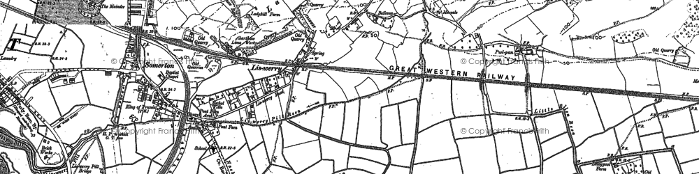 Old map of Liswerry in 1900