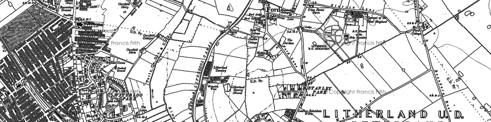 Old map of Litherland in 1907